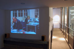 Front room video projection