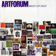 Artforum December 2007 cover